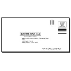 Business Reply Envelopes (Springfield Convention & Visitors Bureau)