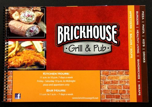 Durable Menus (Brickhouse Grill & Pub)